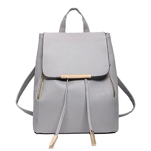Domybest - Bolso mochila para mujer Rosa rosa gris