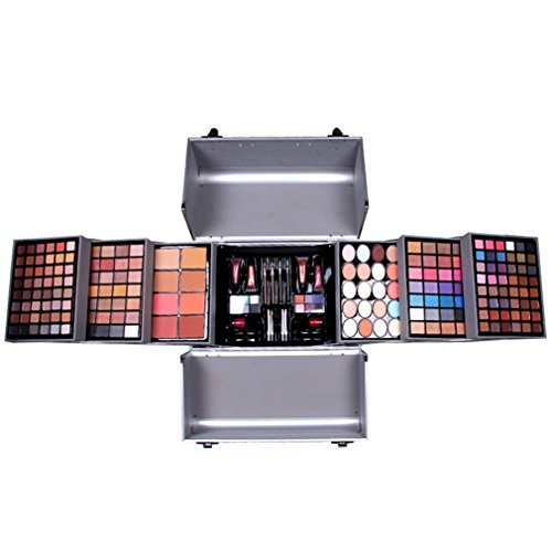 Pure Vie 190 Colors Blockbuster Makeup Palette - 158 Eyeshadow, 20 Concealer, 4 Pressed Powder, 4 Lip Gloss, 4 Blush, 4 Eyeliner, 2 Lip Stick, 2 Nail Polish, 4 Disposable Wands Contouring Kit #03 by Pure Vie