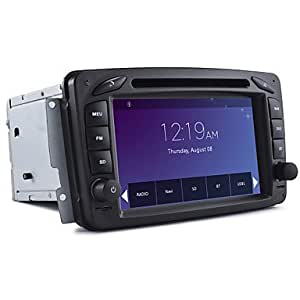 DF 2 Din Car Dvd Player Car Stereo For Mercedes C-CLASS A-CLASS CLK With Gps Map Support 1080P Video(Black)