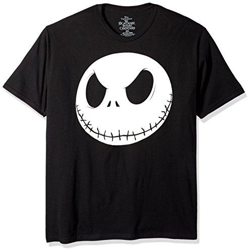 Disney Men's Nightmare Before Christmas T-Shirt, Black, -