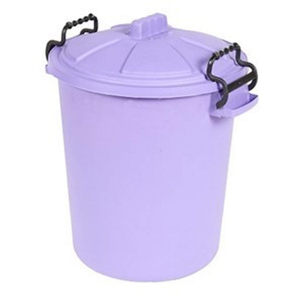Saddlers Heavy Duty Dustbin And Lid With Clip (10.9 Gallons) (Purple) by Saddlers