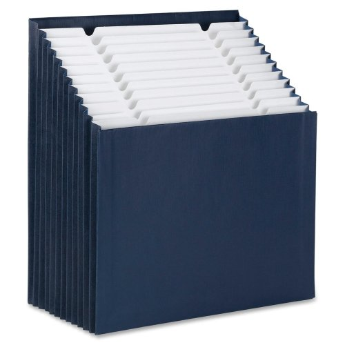 Wholesale CASE of 10 - Smead 12-pocket Stadium File-Stadium File, 12-1/4''x13-5/8''x9-1/8'', 12 Pkt, Navy Blue