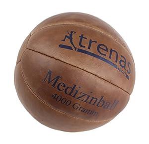 Original TRENAS Medizinball aus Leder - 4 KG