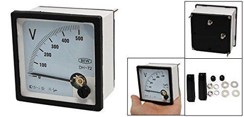 eDealMax Montage à vis Place Panneau de compteur de Tension analogique Voltmètre, AC 0-500V
