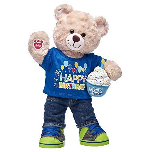 Build A Bear Workshop Happy Hugs Teddy Bear CeleBEARate Happy Birthday Boy Gift Set from Build A Bear
