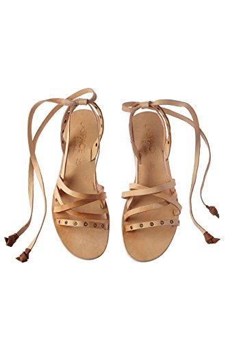 Cocobelle Kvinners Wrap Sandaler Tan