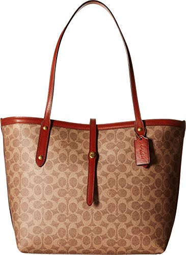 COACH Women's Market Tote in Coated Canvas Signature B4/Tan Rust One Size