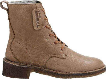 US M Khaki Leather 9 5 Maru Women's Elsa Boot Combat Clarks v04qn