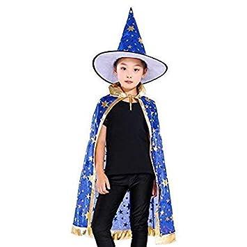 Anzmtosn Disfraces de Halloween Mago de Bruja Capa con ...