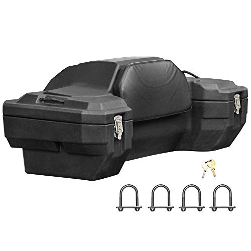 Rage Powersports ATV-CB-8020 Lockable Hard Sided Rear ATV Storage Box with a Comfortable Padded ()