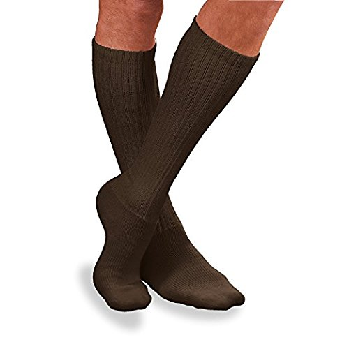 BSN Medical 110856 JOBST Sensifoot Diabetic Sock, Knee High, Closed Toe, Small, Brown