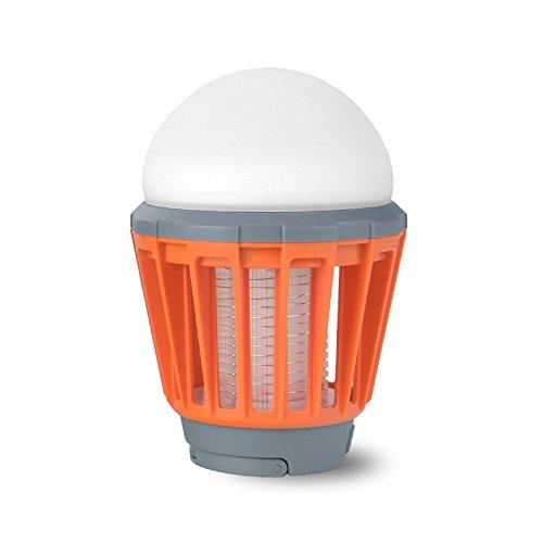 orange Electronic Mosquito Killer Waterproof Garden Outdoor USB Charging LED Mosquito Killer Lamp Climbers Mosquitoes Repeller Garden Pest Control Tools GUORZOM
