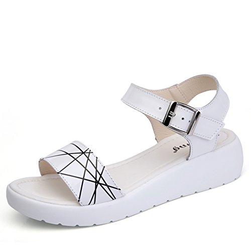 À Summer plat dérapant Confort anti sandales A Moyens sandales Talon lady De xfpwqft