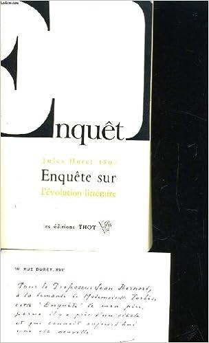 En ligne Enquête sur l'évolution littéraire pdf epub