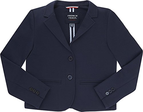 French Toast School Uniform Girls Basic Blazer, Navy, 6