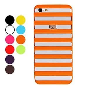 Caso de diseño 3d escalera patrón duro para el iphone 5/5s Naranja