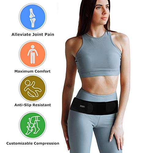 omen and Men for Sciatica Nerve Pain SI Joint Pain Relief, Lower Back Support, Pelvic Relief Alleviate Hip Pain | Adjustable | Provide Compression and Stability|Reduce Inflammation ()