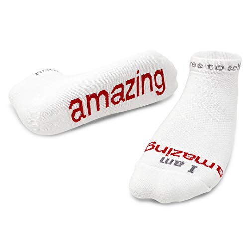 Notes to Self Socks - Daily Affirmations, Inspirational Socks for Women & Men (Best Word For Beautiful)