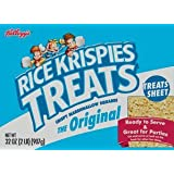 32oz Kellogg's Rice Krispies Treats Original Fun Sheet, Crispy Marshmallow, Large, Pack of 1