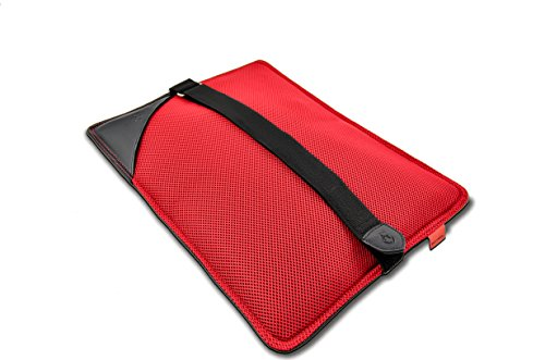 Back Vitalizer - Lower Back Pain Relief Pillow with Adjustable Lumbar Back Support Cushion Pillow For Car, Truck, Desk, Airplane Seats, Chairs, Recommended by Doctors - (Black/Red) by BodyRyzm LifeSciences