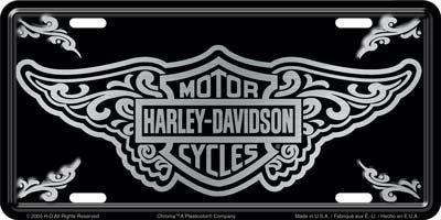 Harley Davidson Filigree License Plate - #1977 by Chroma Harley Davidson Plates
