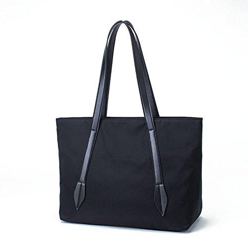 Alla Compiti Neri Borsoni Multi Moda Nylon Casuale Impermeabile Unico Tasca I Con Design Scomparti Scolastici Per HPR0rqPnZ