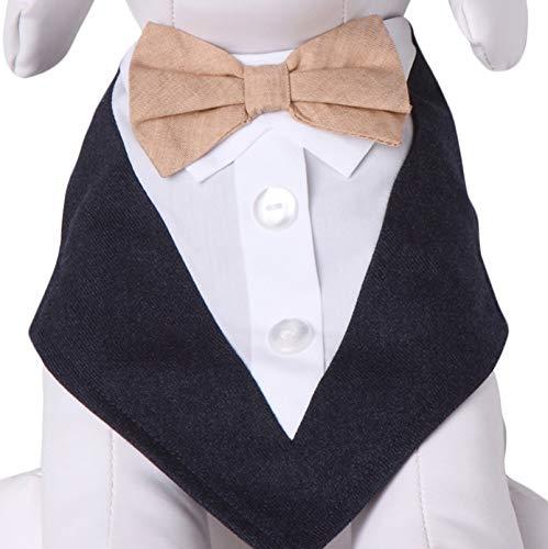 Tail Trends Peanuts Tie Formal Dog Tuxedo Bandana ()