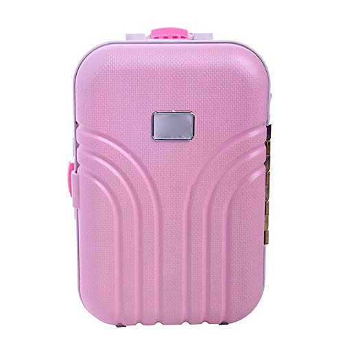 (ERLOU Luggage Carrier Children Kids Hard Side Carry On Travel Suitcase ABS Plastic with Adjustable Handle and Rolling Wheels for 18 Inches)