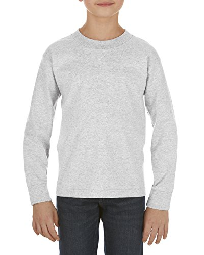 Alstyle Apparel AAA Big Kids' Youth Classic Long Sleeve T-Shirt, Ash, Small -