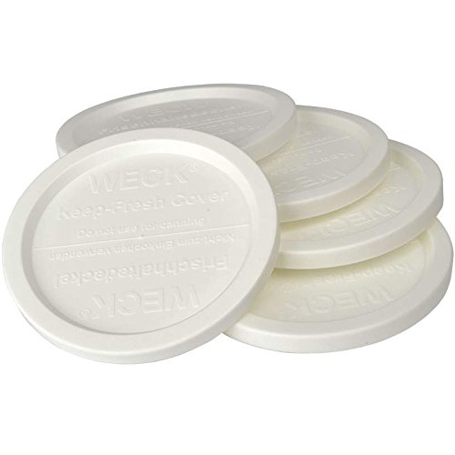 WECK JAR 5 PACK KEEP FRESH PLASTIC LIDS, 5 PACK (SMALL = 2 3/8