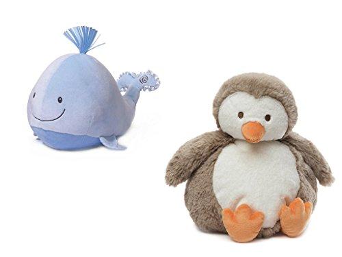 Penguin Duo (Animated Sleepy Seas Sound & Lights Whale & Adorable Chub Penguin Plush Duo Bundle)