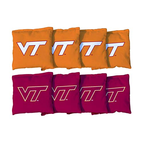 - Victory Tailgate NCAA Collegiate Regulation Cornhole Game Bag Set (8 Bags Included, Corn-Filled) - Virginia Tech Hokies
