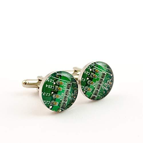 Green Circuit Board Cufflinks