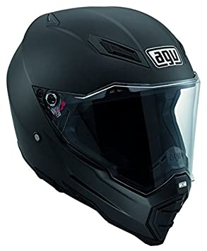 AGV Casco AX-8 EVO Naked E2205, color Negro (Matt Nero),