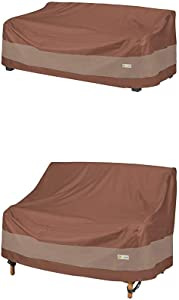 Duck Covers Ultimate Patio Sofa Cover, 87-Inch with Patio Loveseat Cover