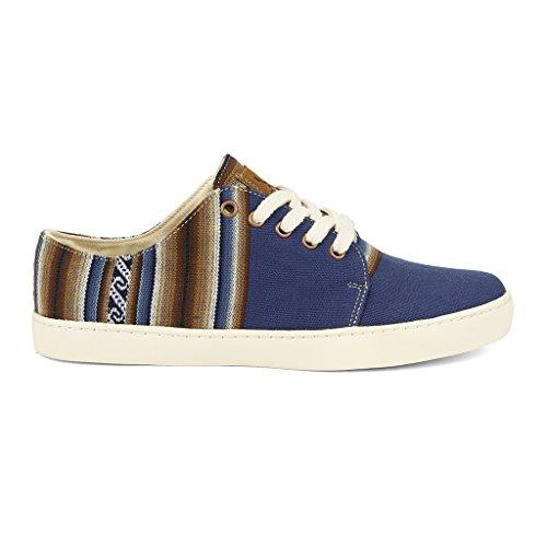 Pour Main et À La Bajo et Artisanales Hommes Bleu À Fabriquées Chaussures Motifs Péruviens Éthiques Perús Ampato Sneakers Femmes Traditionels EqzB11