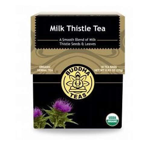 (Organic Milk Thistle Tea - Kosher, Caffeine Free, GMO-Free - 18 Bleach Free Tea Bags)