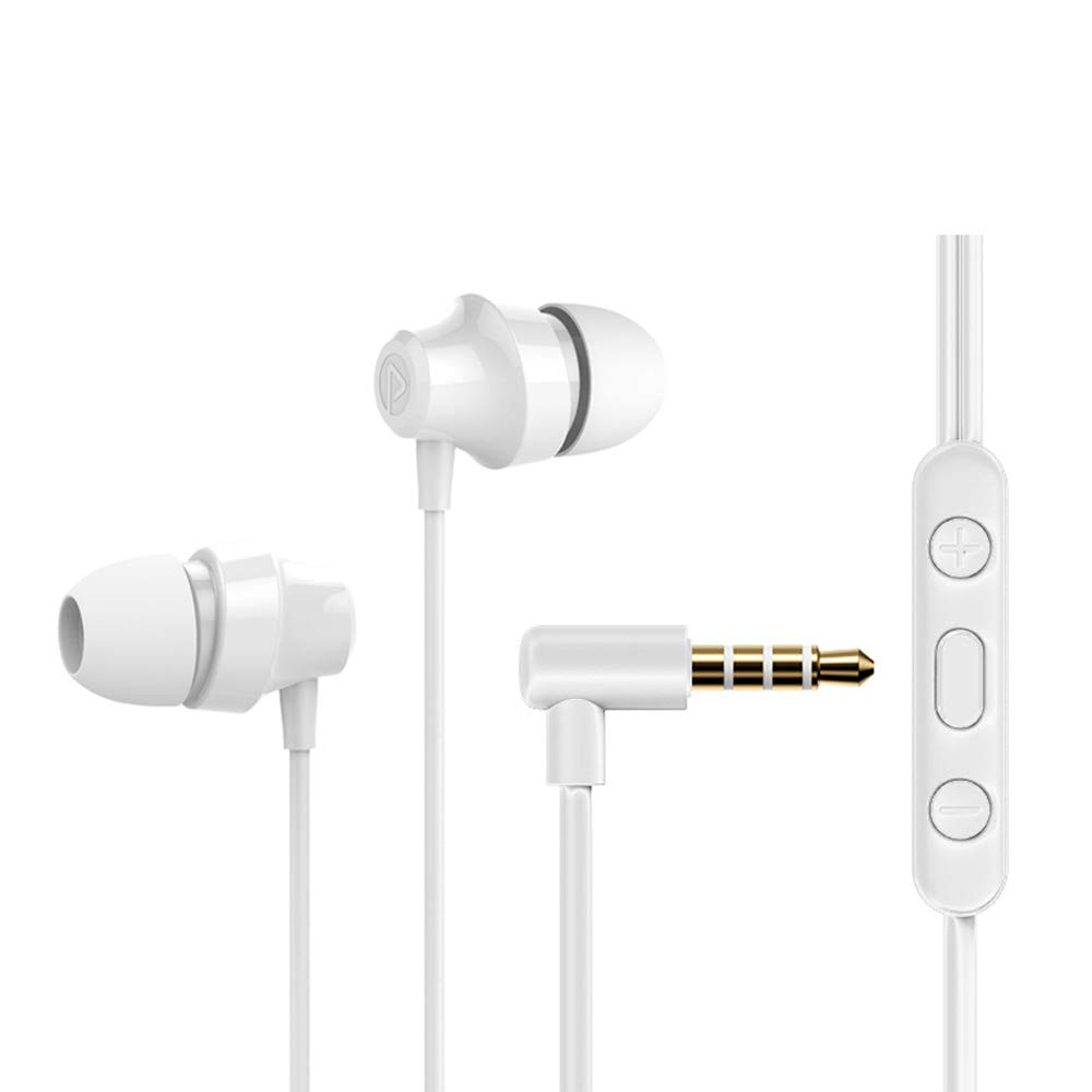 in-Ear Earphones, Wired Earbuds with Microphone and Volume Control, Headphones Crystal Clear Sound, Ergonomic Comfort-Fit, White