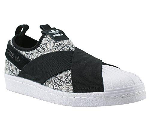 Schuhe white On black Slip adidas Superstar W fg0wSq