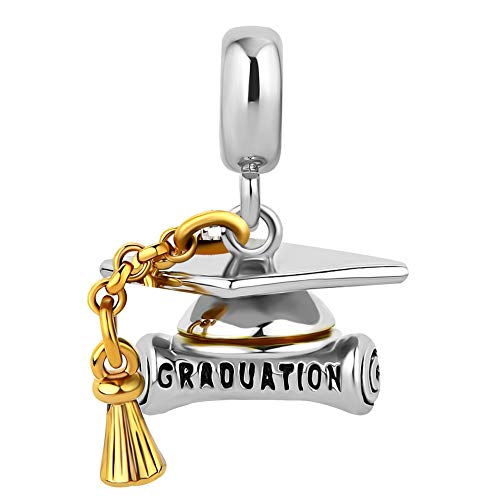Image of CharmSStory Magic Book Student Graduation Cap Charm Beads For Bracelets (