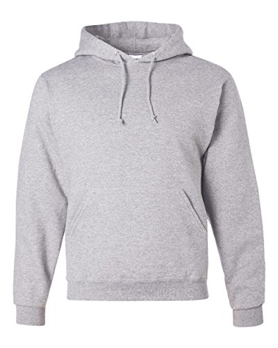 (Jerzees 8 oz. NuBlend 50/50 Pullover Hood, Birch Silver - Large)