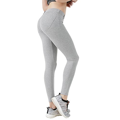 L-Asher Leggings, Sexy Women's Low Waist Hip Push up Jeggings Tights Yoga Capri Pants by L-Asher (Image #4)