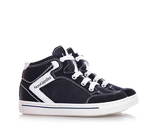 NERO GIARDINI - Blaue Sneakers mit Schnürsenkel aus Wildleder und Stoff, Kind, Jungen, Jungs