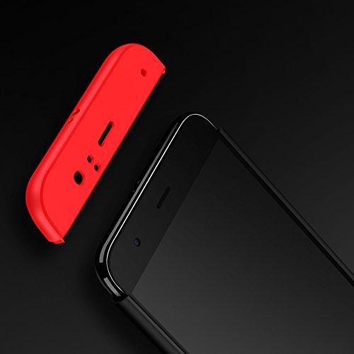 Funda Xiaomi Redmi 5 Plus, Hard Xiaomi Redmi 5 Plus Funda Case, PLECUPE la moda Ultra Thin Desmontable 3 en 1 Dura PC Plástico Case Cárcasa Caja Cover, Ultra Delgado Fino 360 Grados Integral Cobertura Negro