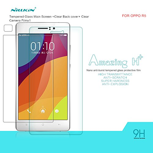 Nillkin 9H Amazing H+ Nanometer Anti-burst Tempered Glass Protective Film Anti-Explosion Glass Screen Protector Compatible for OPPO R5 (R8107) (H+) - ® luckies2014®- with original nillkin retail packing