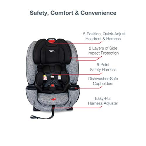41J7onWzQmL - Britax One4Life ClickTight All-In-One Car Seat – 10 Years Of Use – Infant, Convertible, Booster – 5 To 120 Pounds, Spark Premium Soft Knit Fabric [Amazon Exclusive]