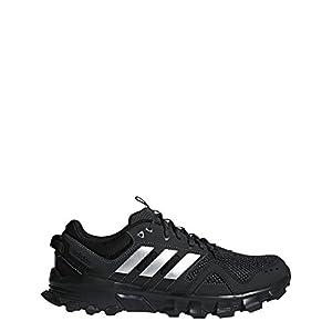 adidas Men's Rockadia m Trail Running Shoe, Core Black/Matte Silver/Carbon, 8.5 M US