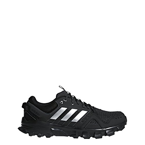 (adidas Men's Rockadia m Trail Running Shoe, Core Black/Matte Silver/Carbon, 10 M US)