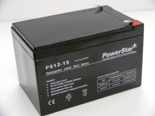 PowerStar PS12-15-15 12V44; 15Ah F2 Sealed Lead Acid AGM Deep-Cycle Rechargeable (Best Ry Rechargeable Batteries)