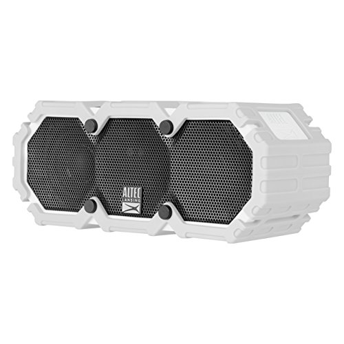 Altec Lansing iMW575 Life Jacket Bluetooth Speaker Waterproof Wireless Bluetooth Speaker, Hands-Free Extended Battery Outdoor Speaker, Ultra-Portable 10ft Range, Grey